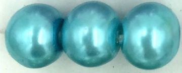 48 Mexican Turquoise - glass pearls - beads - all sizes